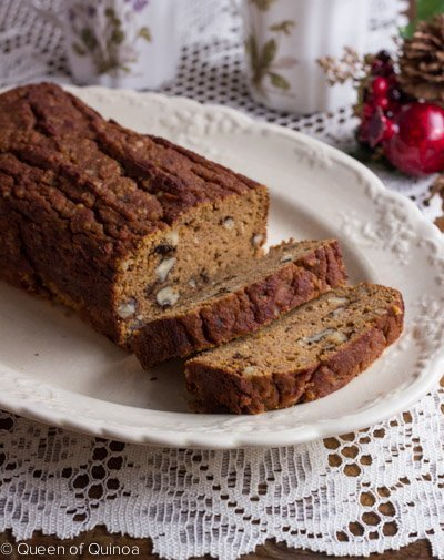 Coconut Flour Pumpkin Bread via Queen of Quinoa (@alyssarimmer)
