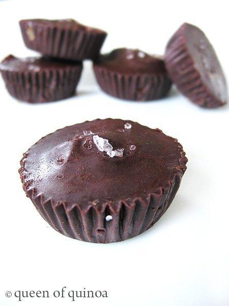 Dark Chocolate Almond Butter Cups   Gluten-free & Vegan   Queen of Quinoa