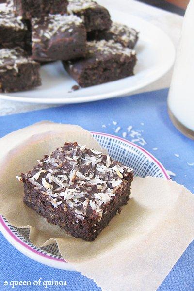 Fudgy Quinoa Brownies   Gluten-Free   Queen of Quinoa