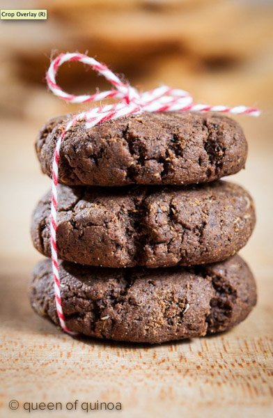 Chewy Gluten-Free Molasses Cookies made with Quinoa!