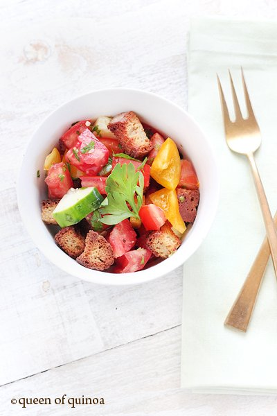 Gluten Free Panzanella Salad | Queen of Quinoa