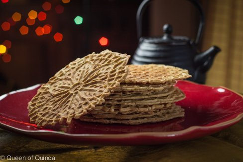 Gluten-Free Pizzelle Cookies via Queen of Quinoa (@alyssarimmer)