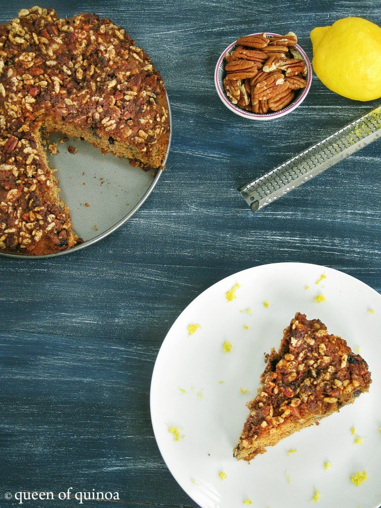 Gluten-free Lemon Blueberry Coffee Cake_Queen of Quinoa