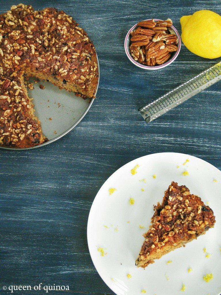 Gluten-free Lemon Blueberry Coffee Cake_Queen of Quinoa