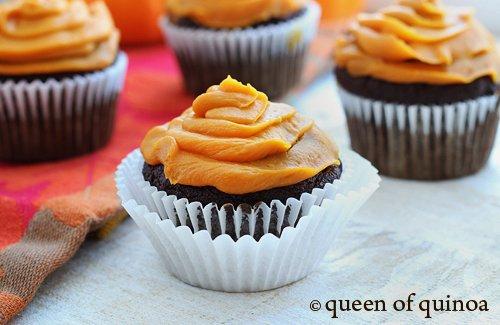 Grain-Free Halloween Chocolate Cupcakes | Gluten-Free | Queen of Quinoa