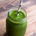 Green Apple Smoothie via Queen of Quinoa (@alyssarimmer)