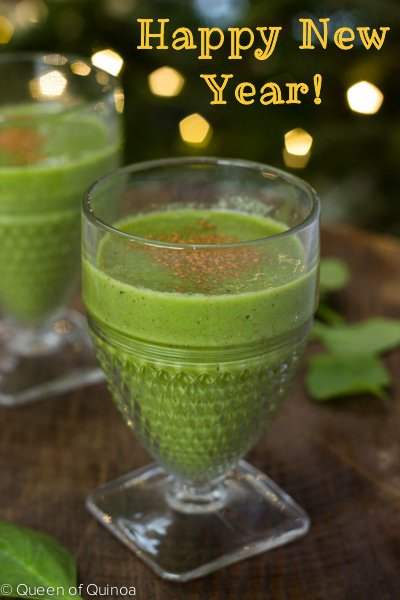 Green Apple Smoothie via Queen of Quinoa (@alyssrimmer)