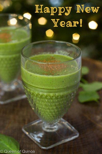 Green Apple Smoothie via Queen of Quinoa (@alyssrimmer)