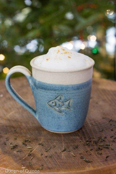 Green Tea Latte via Queen of Quinoa (@alyssarimmer)