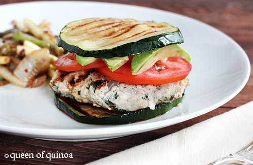 Herbed Turkey Burgers with Zucchini Buns | Gluten-Free | Queen of ...