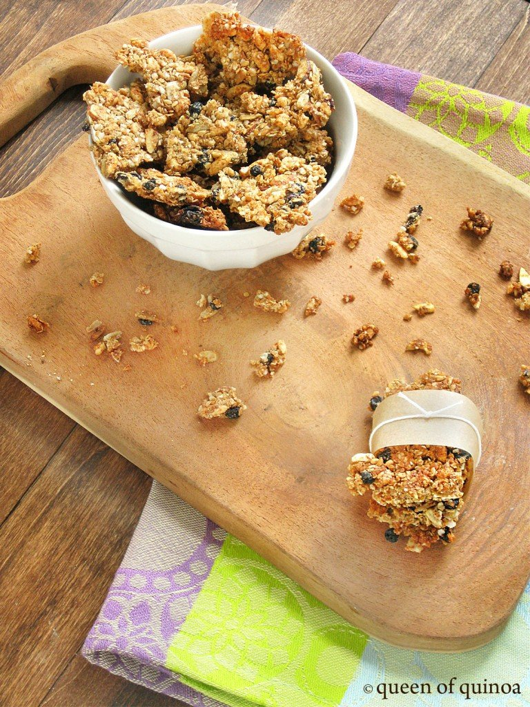 Honey Blueberry Quinoa Granola Bars | Gluten-free | Queen of Quinoa