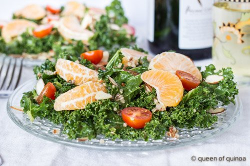 Massaged Kale Salad with Honey-Chipotle Vinaigrette via @alyssarimmer (recipe on www.simplyquinoa.com)
