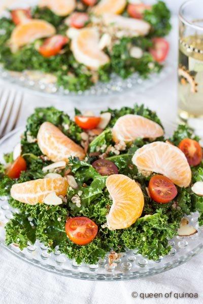Massaged Kale Salad with Honey-Chipotle Vinaigrette via @alyssarimmer (recipe on www.simplyquinoa.com)