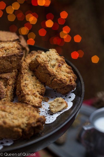 Meyer Lemon Almond Biscotti via Queen of Quinoa (@alyssarimmer)