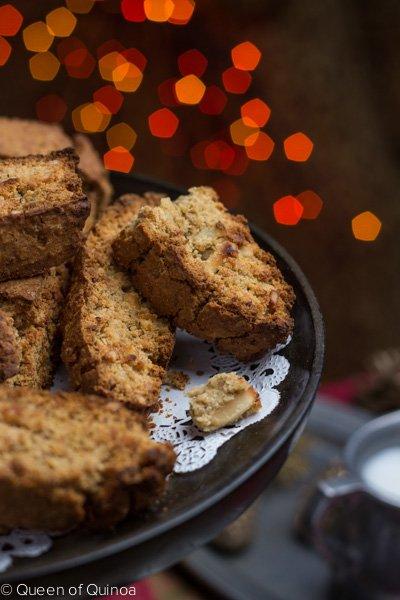 Meyer Lemon Almond Biscotti via Queen of Quinoa (@alyssarimmer)