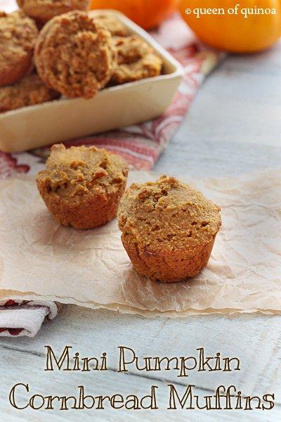 Mini Pumpkin Cornbread Muffins