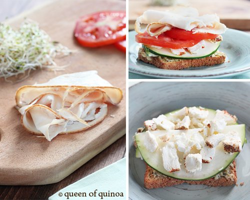 Open Faced Turkey Sandwich | Gluten-Free | Queen of Quinoa