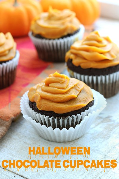 Paleo Halloween Chocolate Cupcakes | Gluten-Free