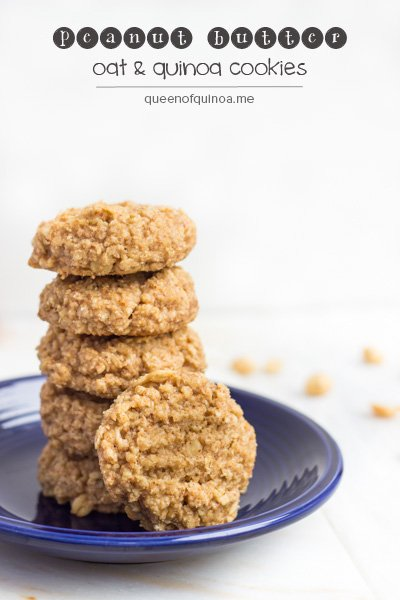 Peanut Butter Oat & Quinoa Cookies (@alyssarimmer)
