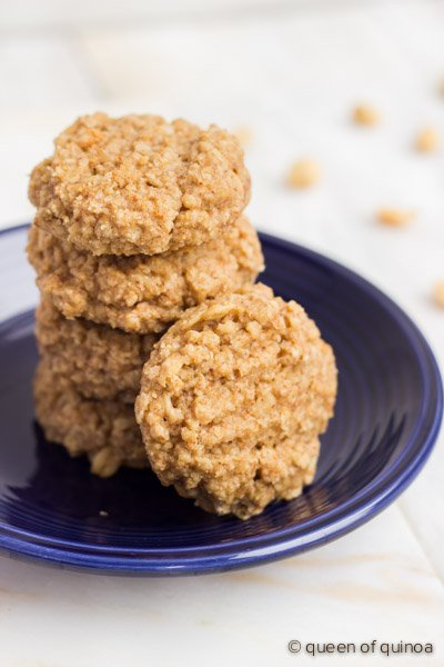 Peanut Butter Oat and Quinoa Cookies
