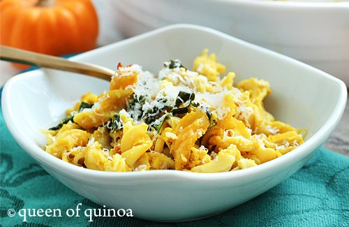 Pumpkin & Chicken Baked Pasta | Gluten-Free | Queen of Quinoa