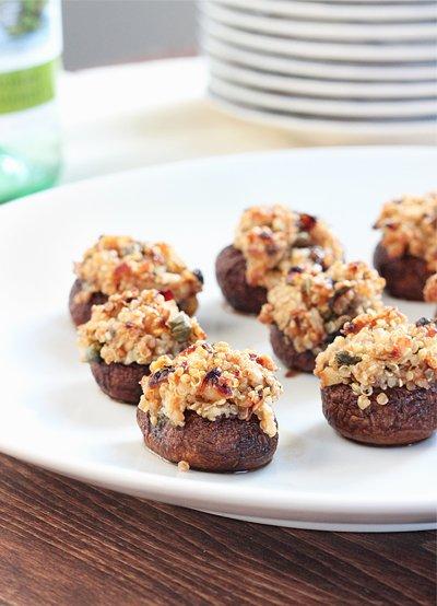 Quinoa Stuffed Mushroom Bites  Gluten-Free   Queen of Quinoa