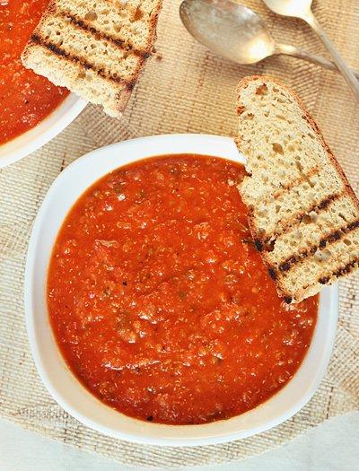 Roasted Red Pepper Soup   Gluten-Free & Vegan   Queen of Quinoa