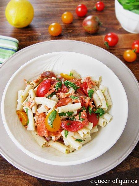 Smoked Salmon Pasta Salad | Gluten-Free | Queen of Quinoa