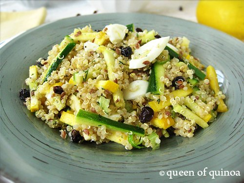 Quinoa Salad with Summer Squash & Currants | Gluten-Free | Queen of Quinoa