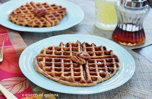 Sweet Potato Pineapple Quinoa Waffles | Gluten-Free | Queen of Quinoa