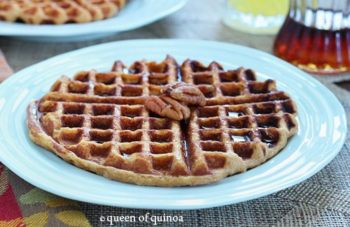 Sweet Potato Pineapple Quinoa Waffles | Gluten-Free | Queen of Quinoa