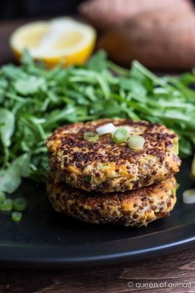 Sweet Potato Salmon Cakes via Queen of Quinoa (@alyssarimmer)