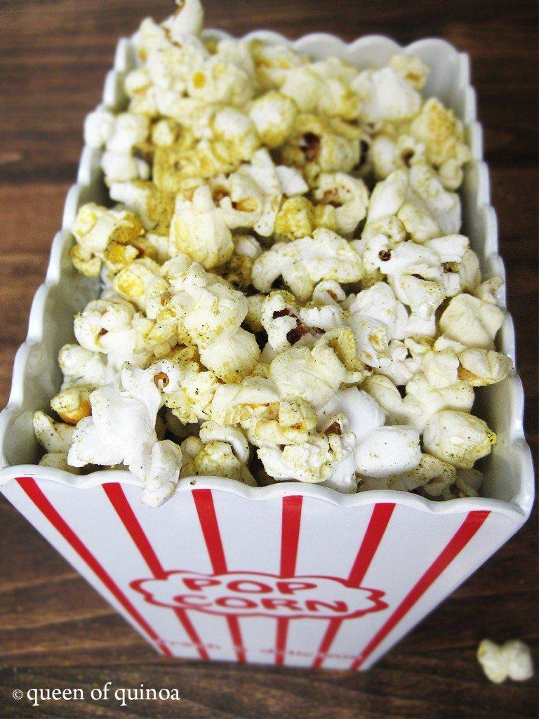Salt & Pepper Popcorn {gluten-free & vegan} | Queen of Quinoa