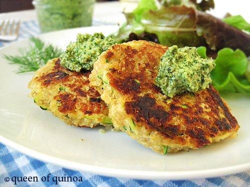 Zucchini Salmon Cakes | Gluten-free & Quinoa | Queen of Quinoa