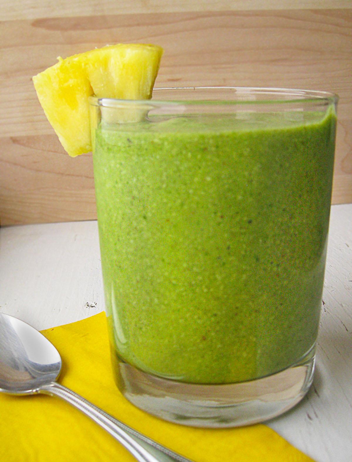 Green Pina Colada Smoothie