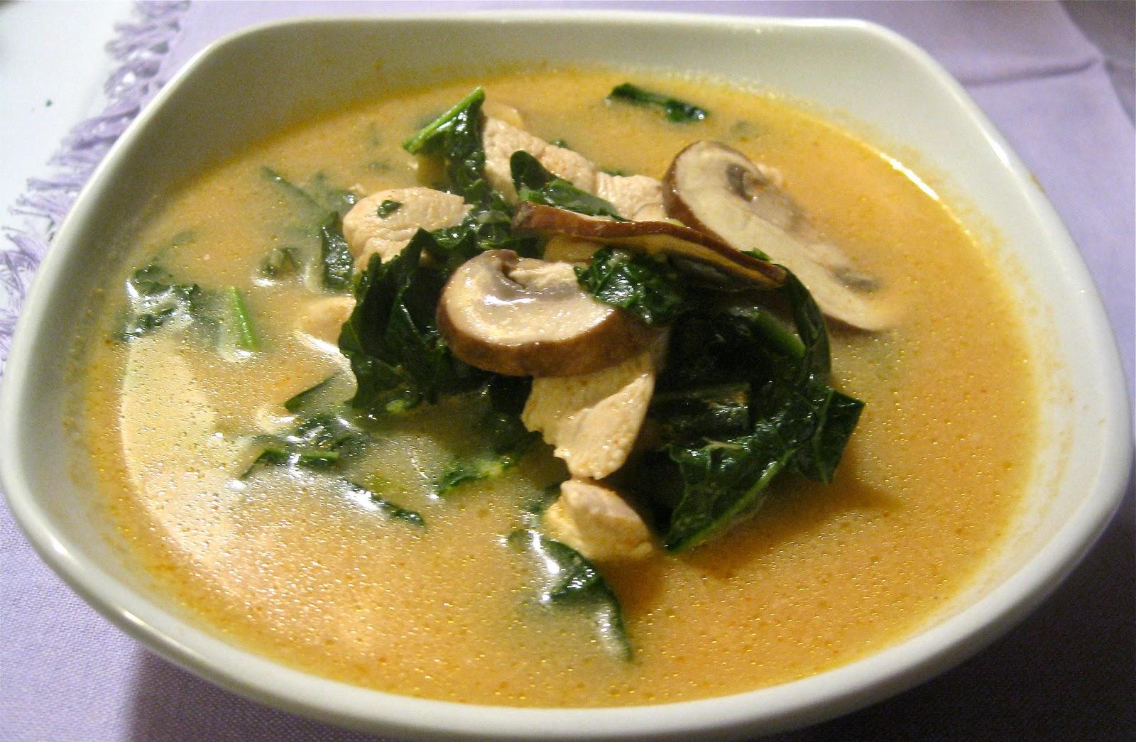 My take on the traditional Thai soup, Tom Kha Gai