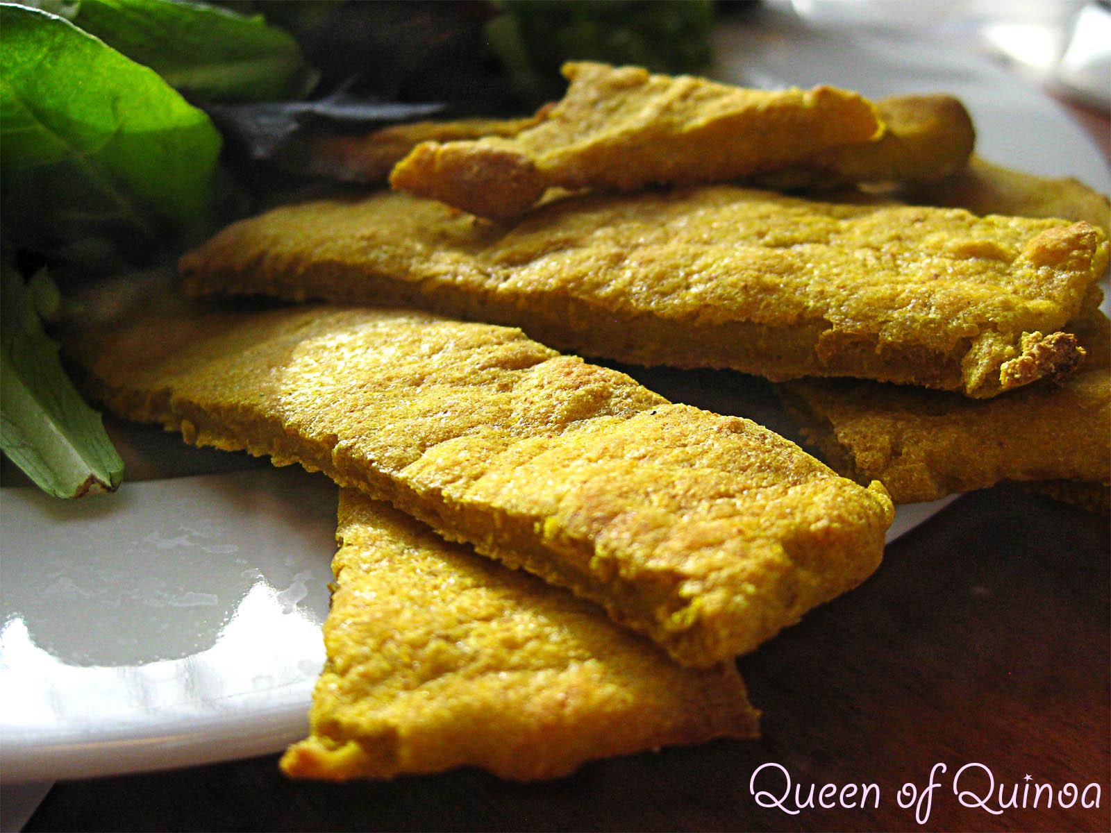 Curried Cauliflower & Squash Soup with Quinoa Flatbread