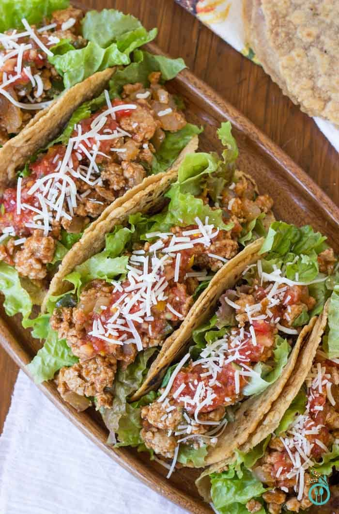 Lightened Up Turkey Tacos with Gluten-Free Wraps
