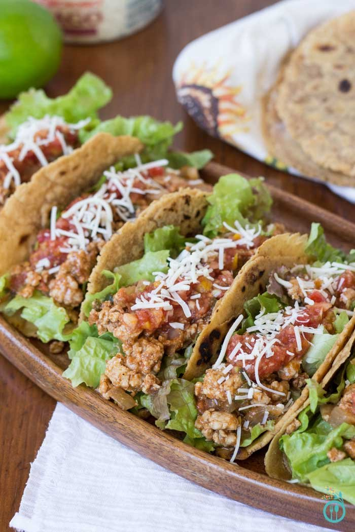 Healthy Turkey Tacos with Gluten-Free Wraps