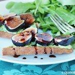 Fig & Goat Cheese Crostini via Queen of Quinoa