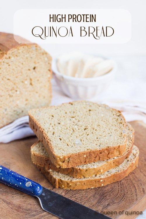 High Protein Quinoa Bread using Bob's Red Mill Quinoa flour