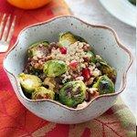 Roasted Brussel Sprout & Quinoa Salad via Queen of Quinoa