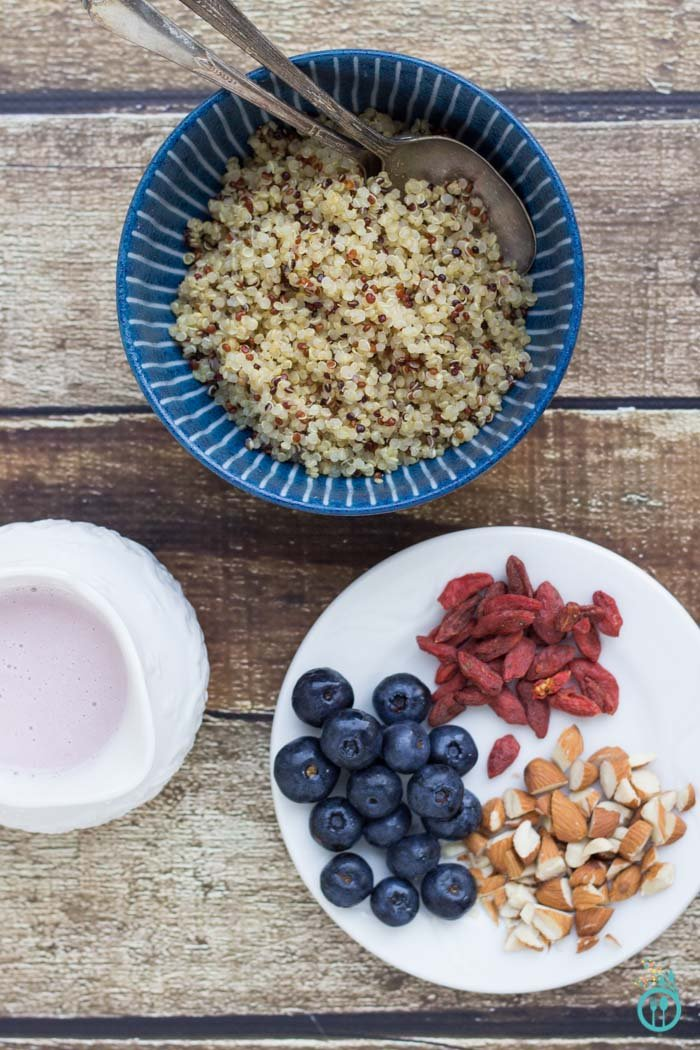 Strawberry Infused Breakfast Quinoa Cereal - gluten-free, vegan & only 5 ingredients!