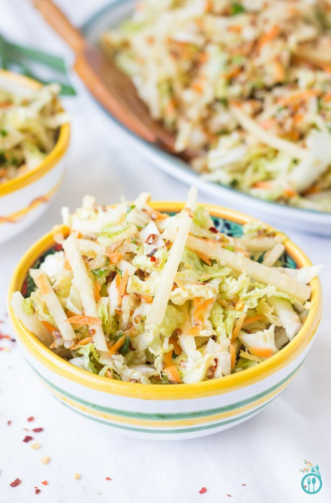 Summertime Asian Quinoa Slaw - just in time for those BBQ cookouts!