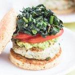 Cilantro-Quinoa Turkey Burgers from @alyssarimmer | #glutenfree #healthy | recipe on queenofquinoa.me
